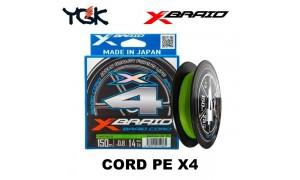 X-Braid Cord PE X4